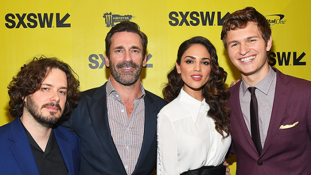 2017 SXSW Film Premiere of Baby Driver with director Edgar Wright, actors Jon Hamm, Eiza Gonzalez, and Ansel Elgort – Photo by Matt Winkelmeyer