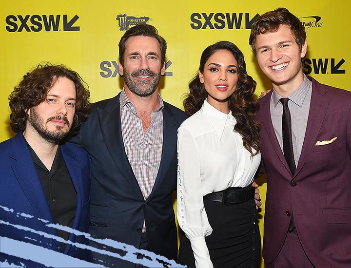 2017 SXSW Film Premiere of Baby Driver with director Edgar Wright, actors Jon Hamm, Eiza Gonzalez, and Ansel Elgort – Photo by Matt Winkelmeyer