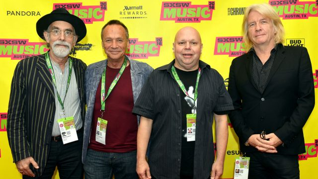 Rob Fraboni, Mark Needham, Matt Pinfield, and Bob Rock