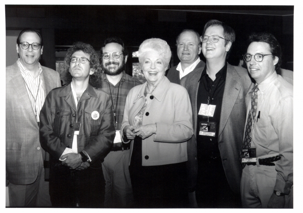 Governor Ann Richards and the SXSW Directors photo by Martha Grenon