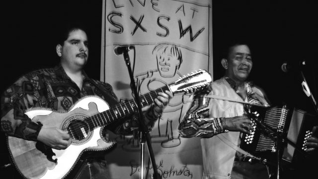 Flaco Jimenez at SXSW 1994. Photo by Theresa DiMenno.