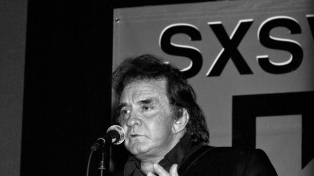 Johnny Cash at SXSW 1994. Photo by Theresa DiMenno.