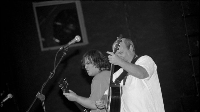 Tenacious D at SXSW 2000. Photo by Martha Grenon.