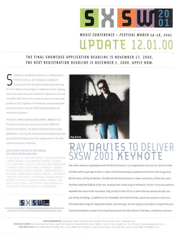 SXSW 2001 Brochure