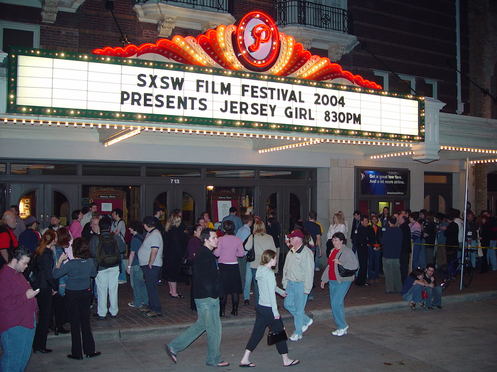 Paramount Theatre marquee at SXSW Film 2004