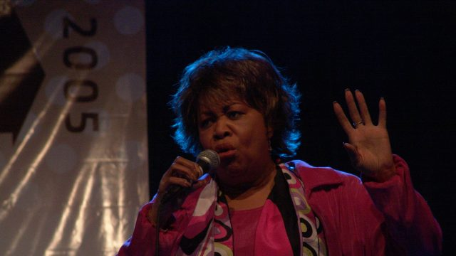 Mavis Staples at SXSW 2005. Photo by Gary Miller.
