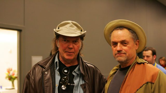 Neil Young & Jonathan Demme at SXSW 2006. Photo by Gary Miller.