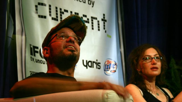 David Cross & Anabelle Gurewitch at SXSW Film 2006. Photo by Jenn Starr.