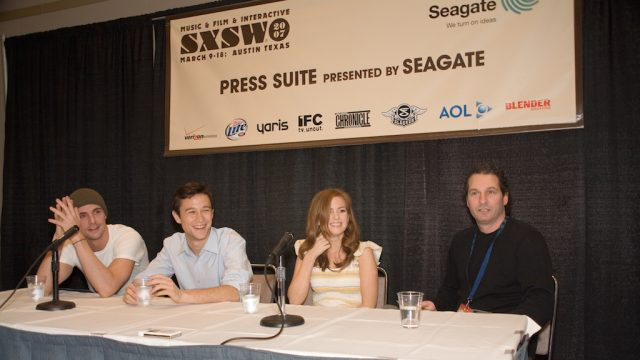 """The Lookout"" press conference at SXSW Film 2007. Photo by Charlie Llewellin."