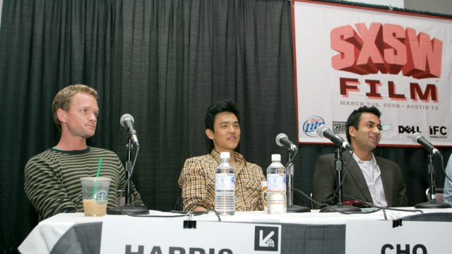 Neil Patrick Harris, John Cho & Kal Penn at SXSW Film 2008. Photo by Gary Miller.