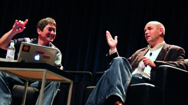 Chris Anderson (author) & Guy Kawasaki at SXSW Interactive 2009. Photo by Stephanie Black.