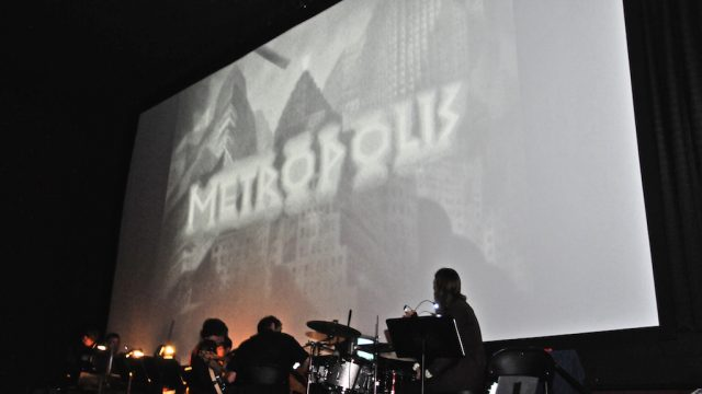 "A screening of ""Metropolis"" with live score from Golden Hornet. Photo by Stephanie Black."