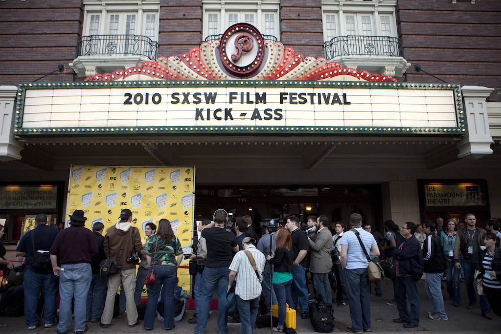 "The premiere of ""Kick-Ass"" at the Paramount Theatre during SXSW Film 2010"