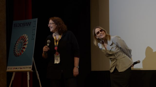 Head of SXSW Film Janet Pierson & Jodie Foster at SXSW Film 2011. Photo by Jesse Knish.