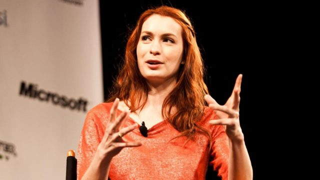 Felicia Day (actress and writer) at SXSW Interactive 2011. Photo by Menelaos Prokos.