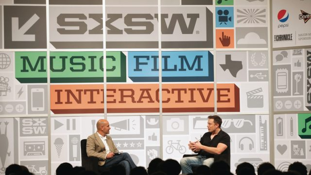 Elon Musk (entrepreneur) at SXSW Interactive 2013. Photo by Sean Mathis/Getty Images.