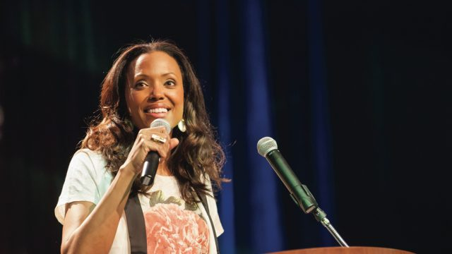 Aisha Tyler (actress & comedian) at the 2013 SXSW Interactive Awards. Photo by Richard McBlane/Getty Images.