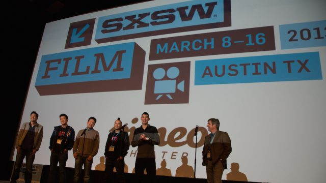 """Linsanity"" Q&A at SXSW Film 2013. Photo by Robert Tobiansky."