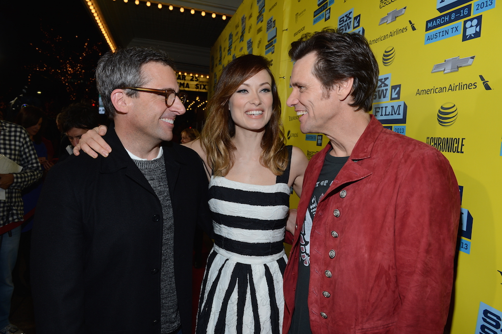 "Steve Carrell, Olivia Wilde & Jim Carrey at ""The Incredible Burt Wonderstone"" world premiere at SXSW Film 2013"