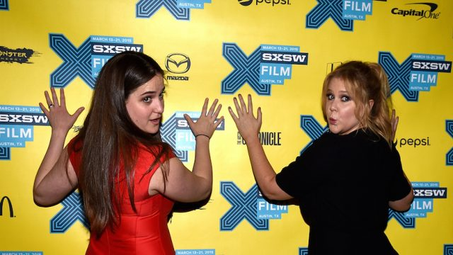 Producer Kim Caramele and writer/actress Amy Schumer at the 2015 SXSW premiere of Trainwreck. Photo by Michael Buckner/Getty Images.