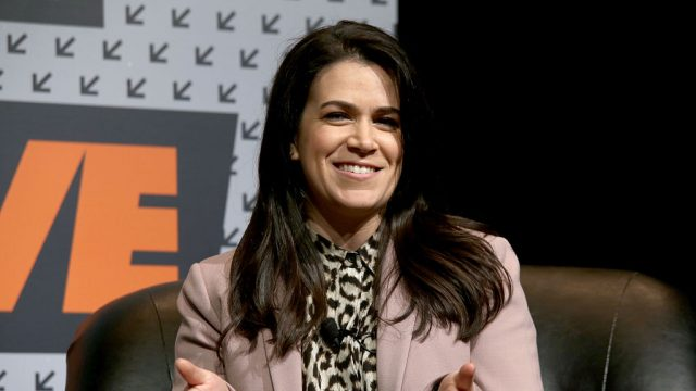 "Abbi Jacobson speaks onstage at ""Marie Claire Talks to the Stars of Broad City"" during the 2016 SXSW Music, Film + Interactive Festival at Austin Convention Center on March 12, 2016 in Austin, Texas."