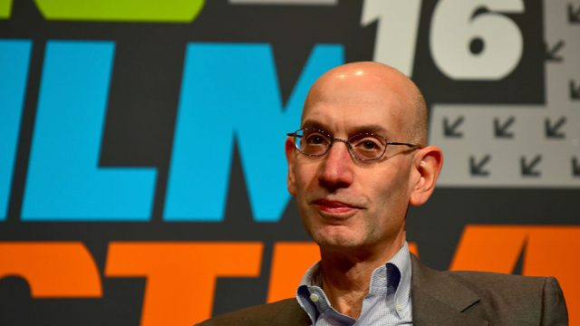 Adam Silver speaks onstage at