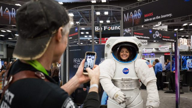 NASA at the trade show