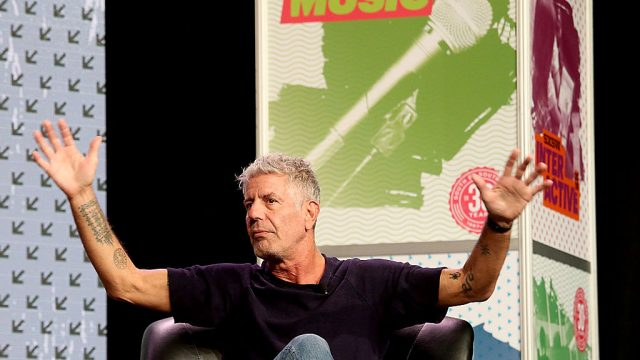 AUSTIN, TX - MARCH 13:  Anthony Bourdain attends SXSW Film-Interactive-Music festival at the Austin Convention Center on March 13, 2016 in Austin, Texas.  (Photo by Gary Miller/Getty Images)