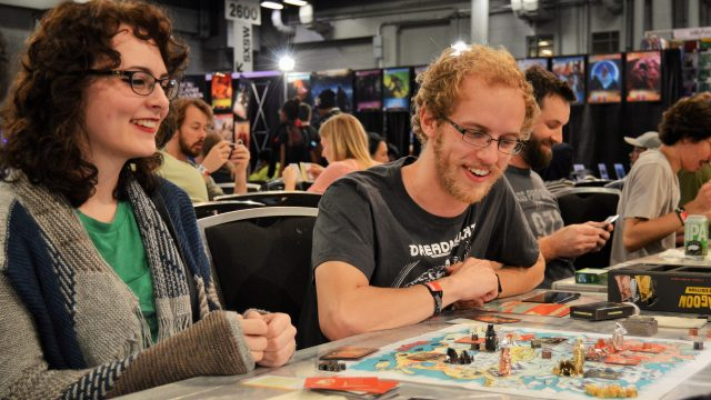 SXSW Gaming Expo attendees having fun at the Tabletop Experience
