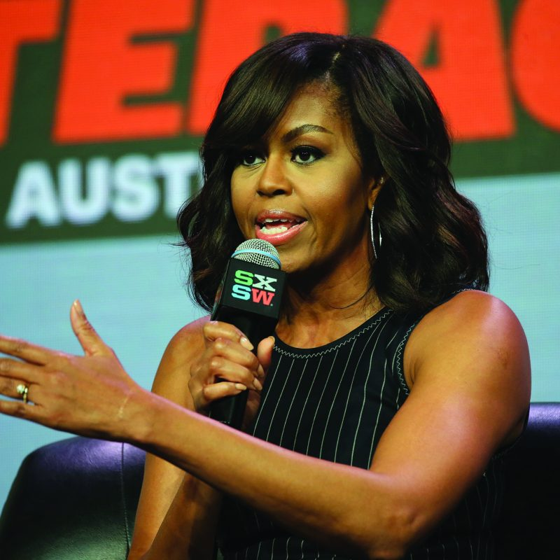 First Lady of the United States Michelle Obama at SXSW Music 2016 photo by Neilson Barnard/Getty Images for SXSW