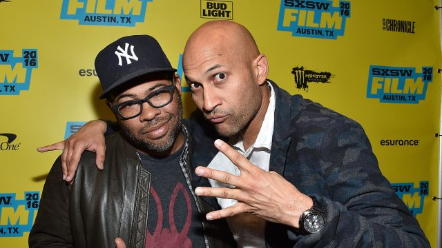"AUSTIN, TX - MARCH 12:  Actors Jordan Peele and Keegan-Michael Key attend the screening of ""Keanu"" during the 2016 SXSW Music, Film + Interactive Festival at Paramount Theatre on March 12, 2016 in Austin, Texas.  (Photo by Mike Windle/Getty Images for SXSW) *** Local Caption *** Jordan Peele; Keegan-Michael Key"