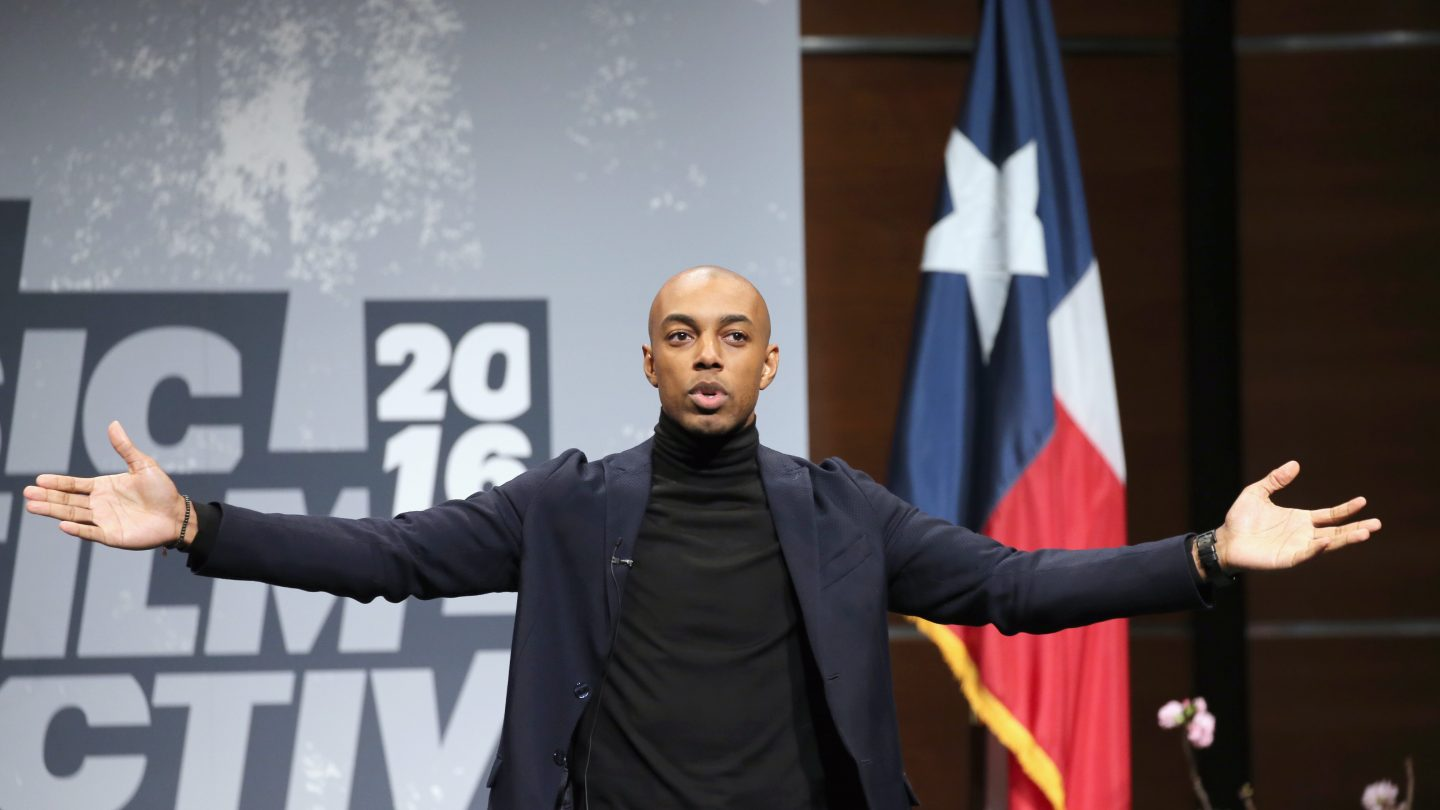 Casey Gerald Opening Keynote at SXSW 2016. Photo by Neilson Barnard/Getty Images.