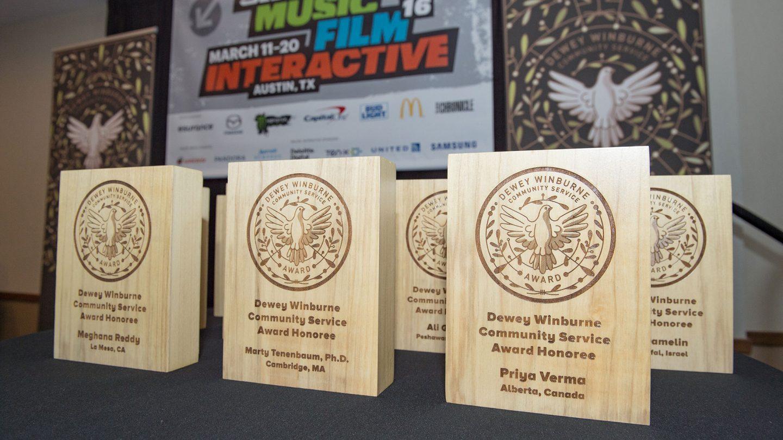 Dewey Winburne Awards at SXSW 2016. Photo by Rob Santos.