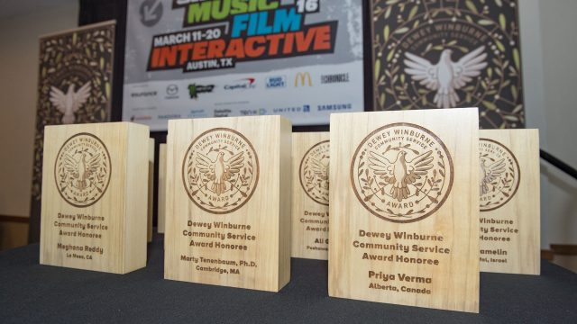 Dewey Winburne Awards at SXSW 2016. Photo by Rob Santos.
