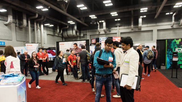 Employers and SXSW attendees mingle at the SXSW Job Market