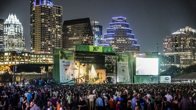 Audience during Spoon at Auditorium Shores showcase - 2015 SXSW