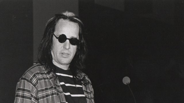 Todd Rundgren at SXSW 1995. Photo by George R. Brainard.
