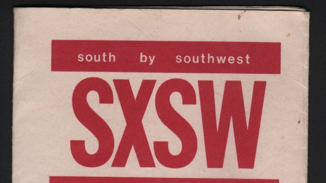 Brochure from the first SXSW Music Festival