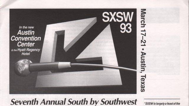 SXSW 1993 Brochure