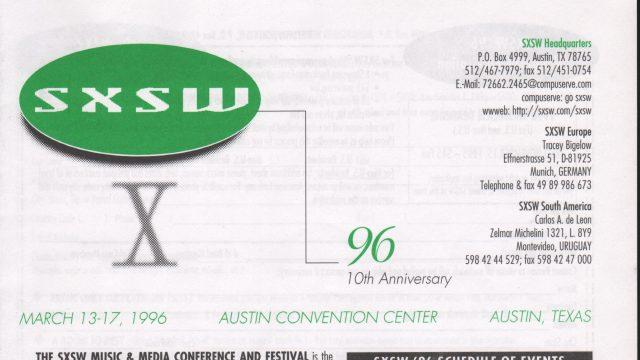 SXSW 1996 Brochure
