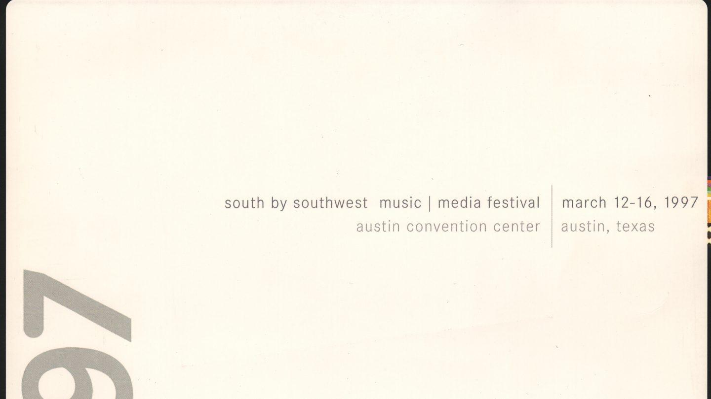 SXSW 1997 Poster