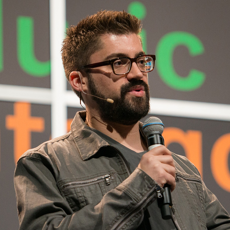 Austin Kleon, a New York Times bestselling author of three books: Steal Like An Artist; Show Your Work!; and Newspaper Blackout at SXSW 2015. Photo by David Weaver.