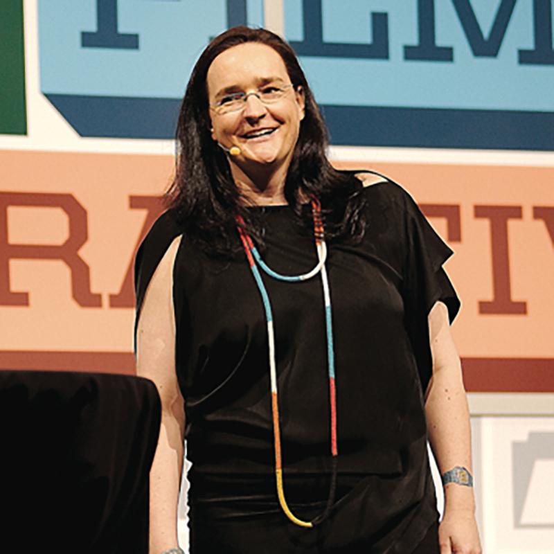 Tina Roth Eisenberg (swissmiss) at SXSW Interactive 2013. Photo by Mike Jordan.