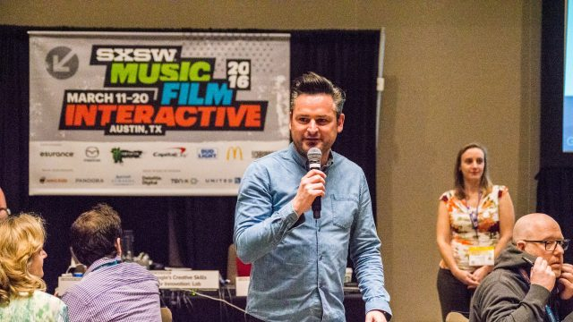 SXSW 2016 Design Track session with Dr Frederik G Pferdt. Photo by Cruz Mendez.