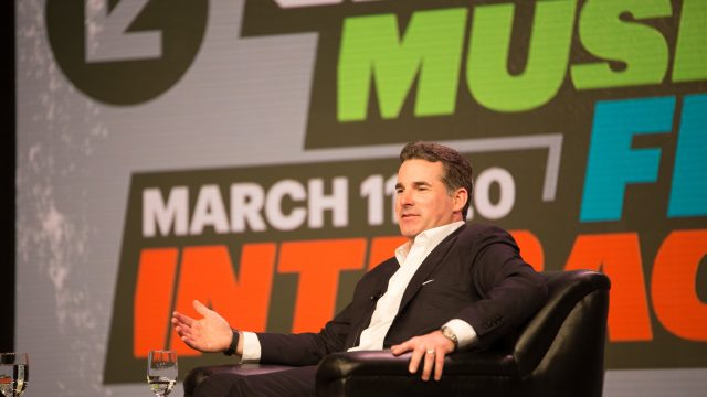 2016 SXSW Interactive Keynote, Kevin Plank. Photo by Michael Caufield.