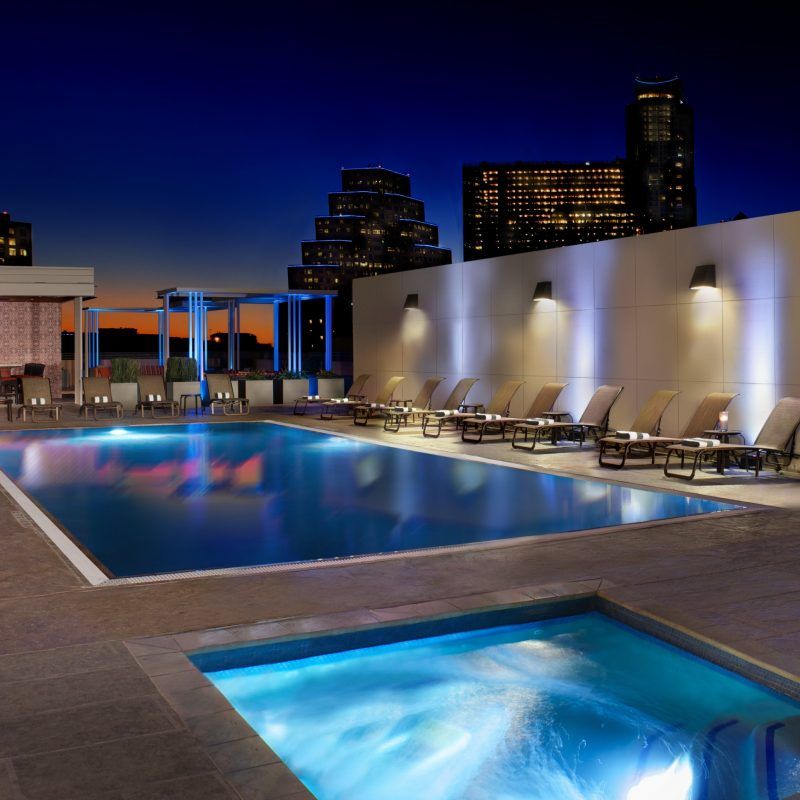 Pool at the Hilton Austin