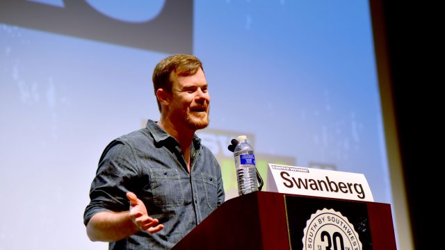 Filmmaker Joe Swanberg speaks onstage at the Joe Swanberg Keynote during the 2016 SXSW Music, Film + Interactive Festival at Vimeo on March 14, 2016 in Austin, Texas.
