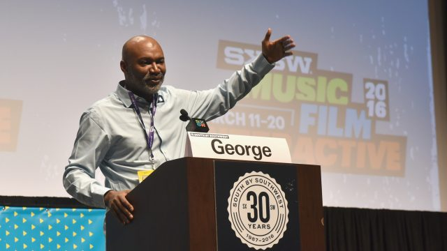 uthor Nelson George speaks onstage at the Nelson George Keynote during the 2016 SXSW Music, Film + Interactive Festival at Vimeo on March 13, 2016 in Austin, Texas.