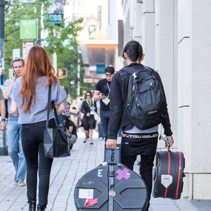 Musicians-Walking