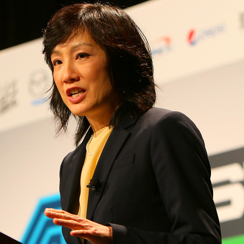 Michelle Lee, Deputy Director of the United States Patent and Trademark Office speaks onstage at 'Move Fast, Government, or Get Out of the Way' during the 2015 SXSW Music, Film + Interactive Festival at Austin Convention Center on March 13, 2015 in Austin, Texas. (Photo by James Goulden Photography/Getty Images for SXSW)